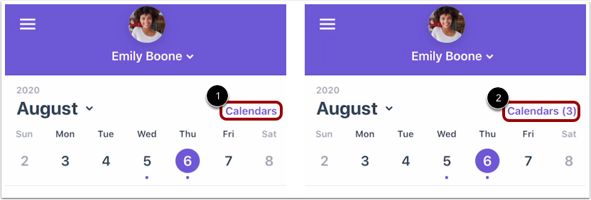 Manage Calendars