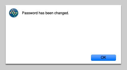 Password has been changed