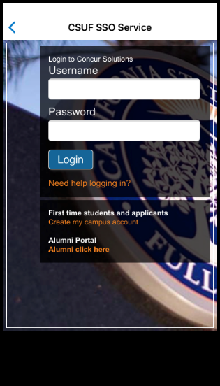 Log in with your Cal State Fullerton Username and Password