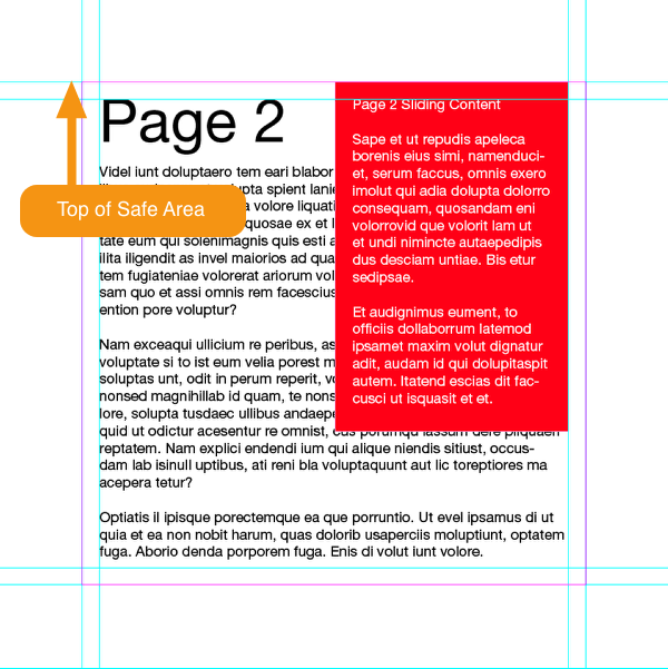 Place content on the B-Slides-Main Content and A-Main Tower layers of Page 2.