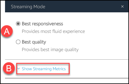 streaming mode options