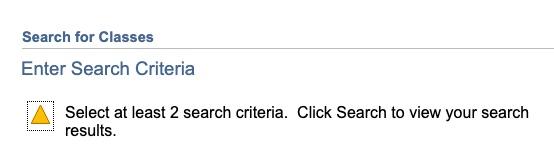 Select 2 Criteria error