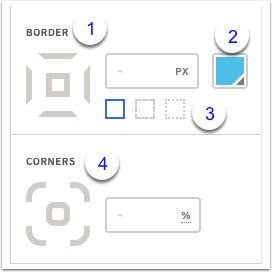Border and corner options