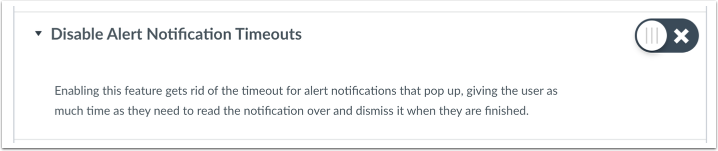 Disable Alert Notification Timeouts