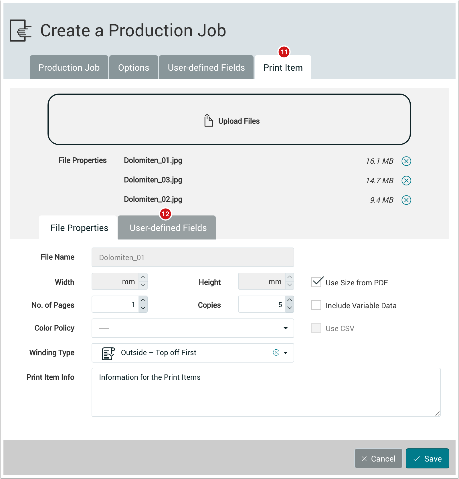 PMS WebGui :: Production Jobs