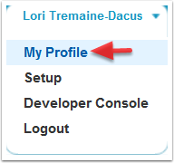 Navigate to your Profile