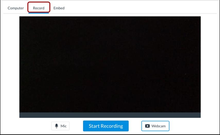 Abrir herramienta de grabación de contenido multimedia