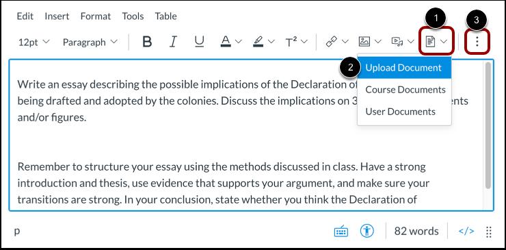 Open Document Upload Tool