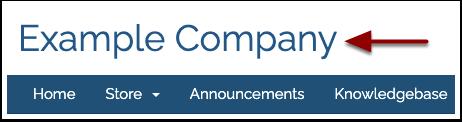 Company Name Header