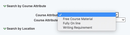 Course Attribute options