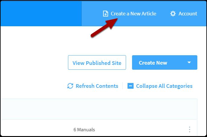 click new