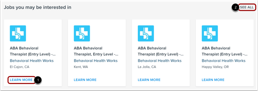 View Suggested Jobs