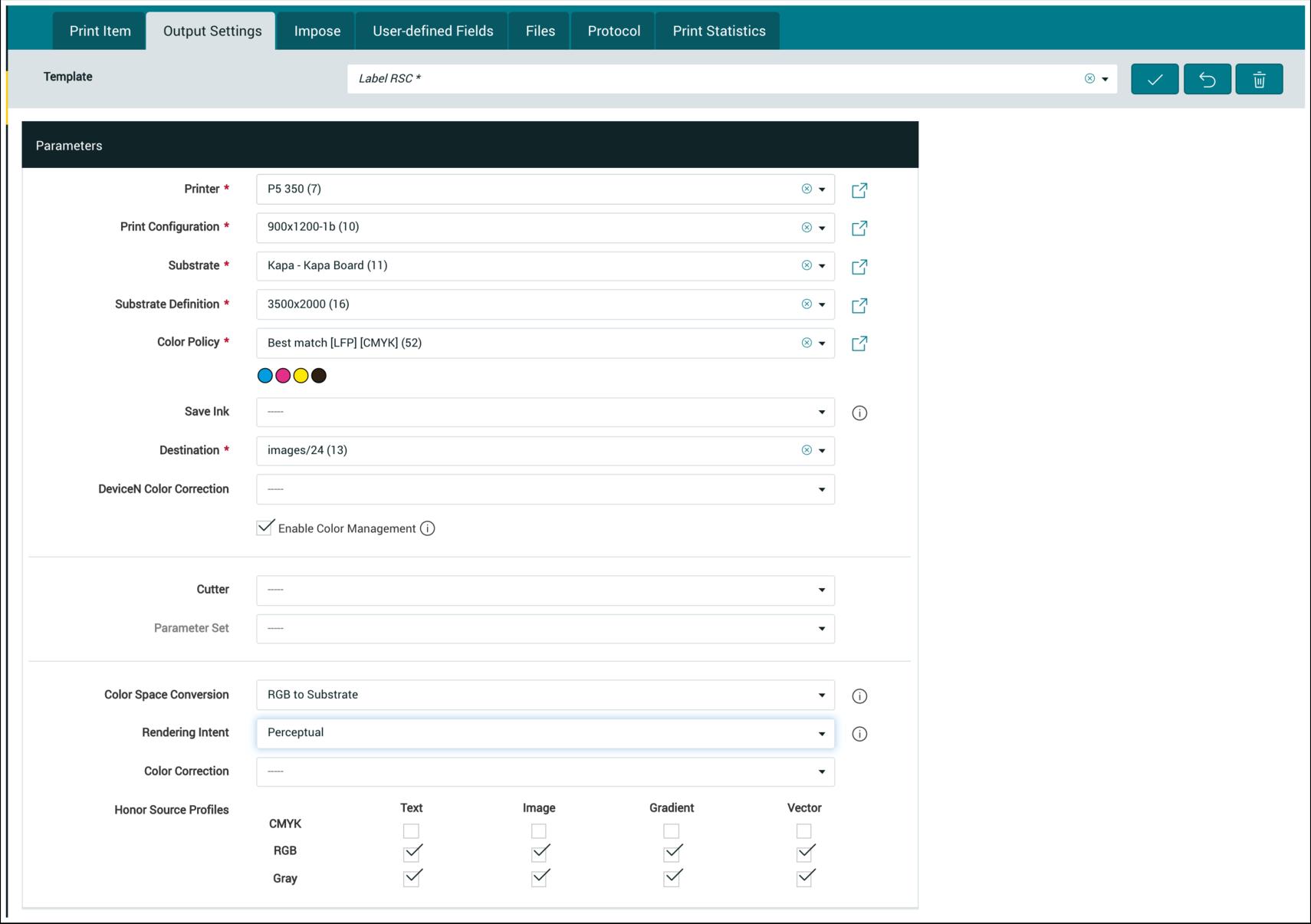 PMS WebGui :: Output Settings