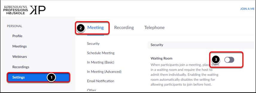 My Settings - Zoom – Google Chrome