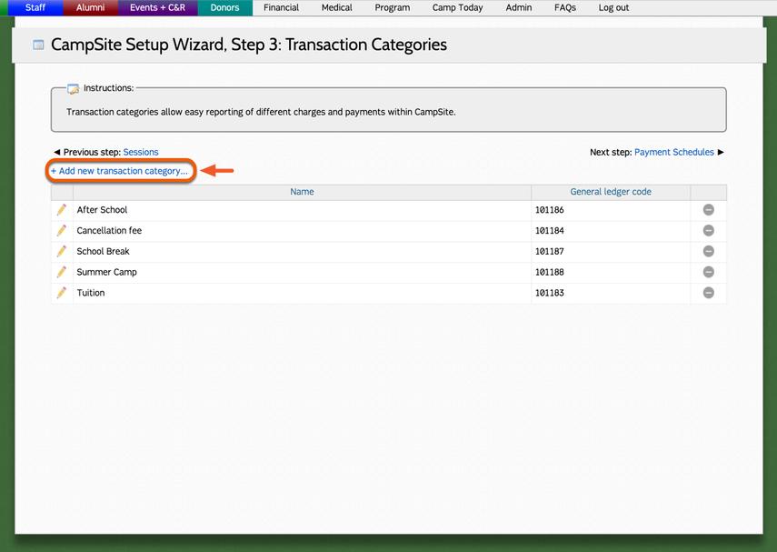 Adding a new transaction category