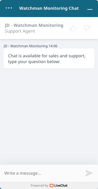 Dashboard Chat Window will open.
