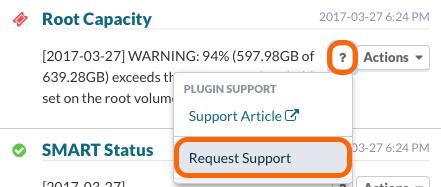 Dashboard Plugin Request Support