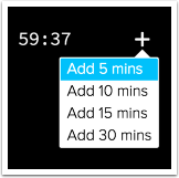 Control for adding time to the capture