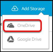 add OneDrive
