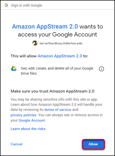 allow Appstream