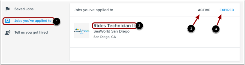 View Jobs You've Applied To