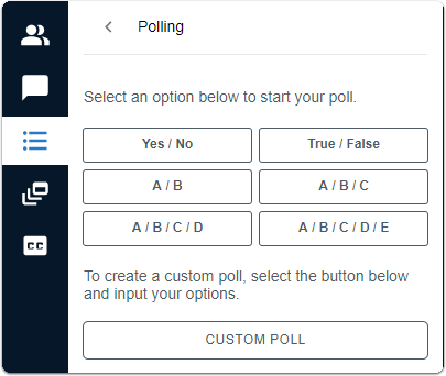Polling - create poll