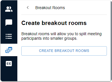 Breakout room - create