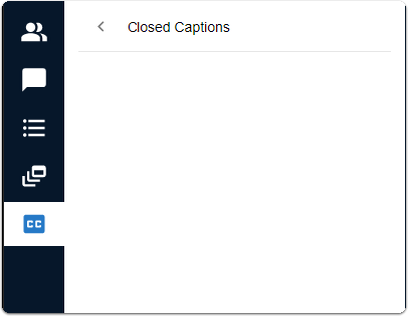Closed captions - add to session