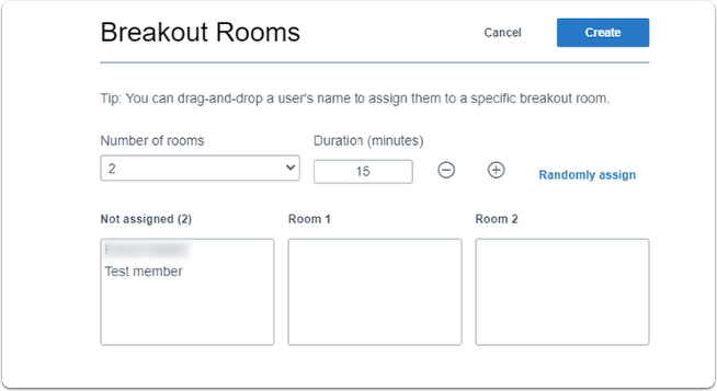 Breakout room - manage