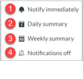 Account Level Notification Icons