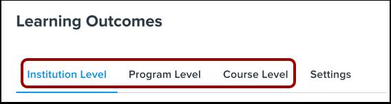 Select Outcome Level