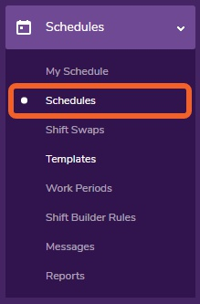 "Go to the ""Schedules"" page."