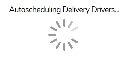 The AutoScheduler loading page.