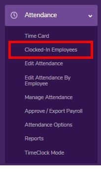 """Go to the """"Clocked-In Employees"""" page."""