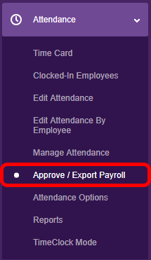 Navigate to the Attendance Tab