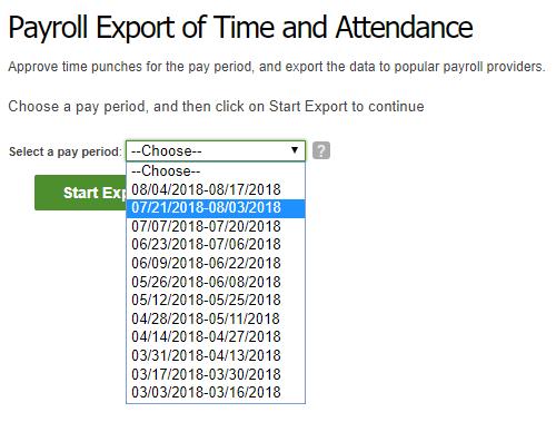 Choose a Payroll Period
