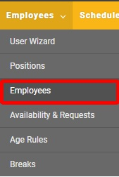 """Go to the """"Employees"""" page."""