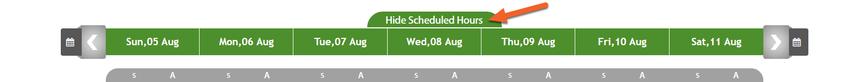 Show/Hide Shift Times