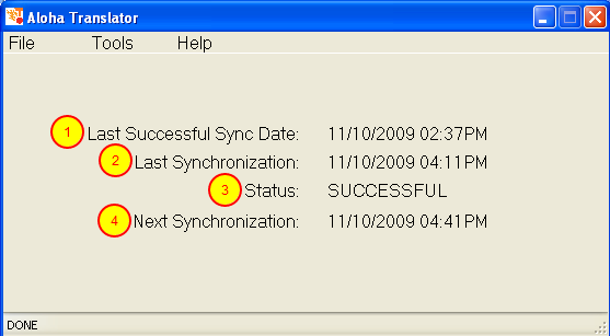 Review Synchronization Settings in Aloha