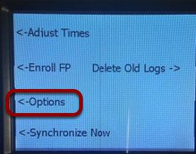 Go to Options