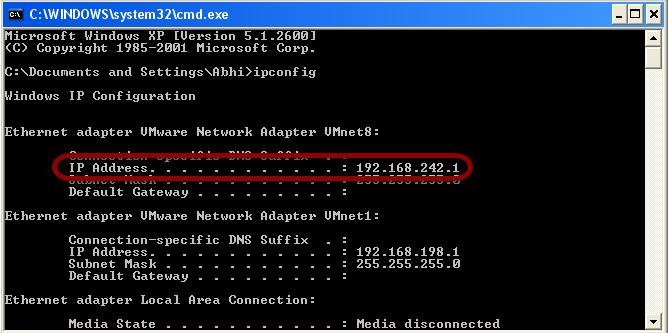 Locate Internal IP Address