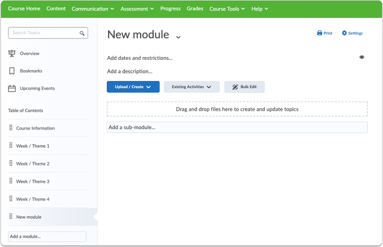 New module is now created