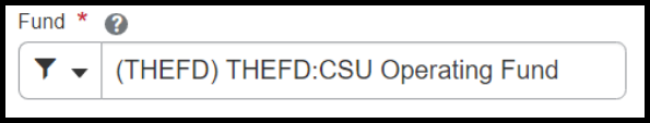 Fund field displaying the CSU Operating Fund option.