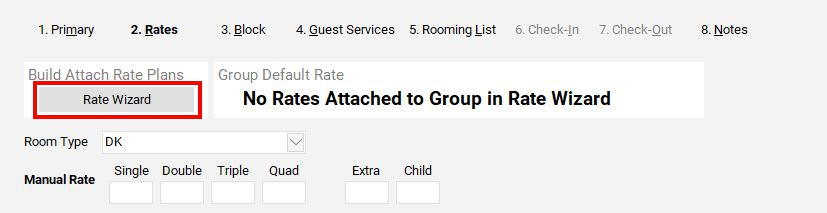 Attaching Rates to the Group