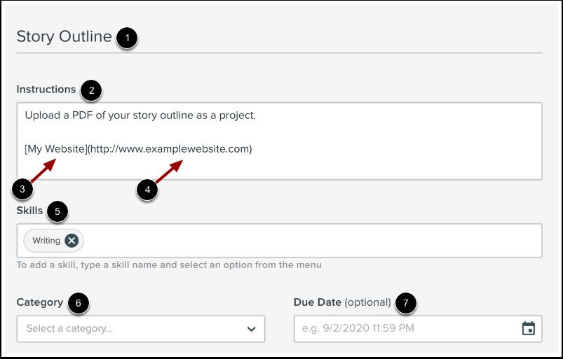 Enter Project Details