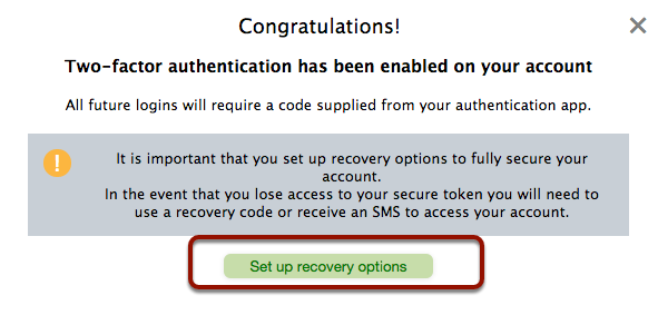 """6. Click """"Set up recovery options""""."""