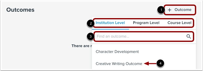 Add Learning Outcome