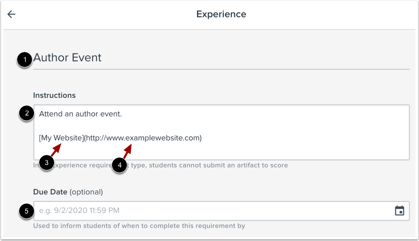 Add Experience Details