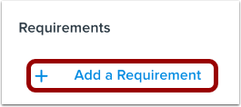 Add Requirement