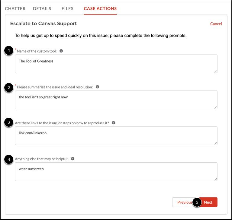 Enter Details (Custom Tool)